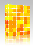 Colored mosaic background box package Royalty Free Stock Images