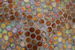 Colored mosaic on a concrete wall Royalty Free Stock Image
