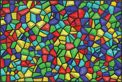 Colored mosaic glass vector Stock Image