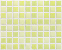 Colored mosaic green texture background tiles Stock Image