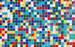 Colored mosaic of old tiles Royalty Free Stock Images