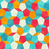 Colored mosaic seamless pattern Stock Images
