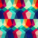 Colored mosaic seamless pattern with grunge effect Stock Image