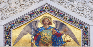 Colored mosaic of St. Michael Royalty Free Stock Photos