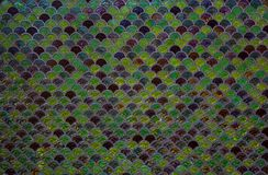 Colored mosaic wall tile background royalty free stock photo