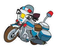 Colored motorcycle - illustration for the children Royalty Free Stock Photos