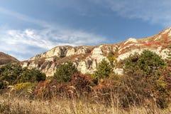 Colored mountains stock photos