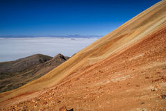 Colored mountains in Bolivia Stock Image