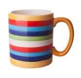 Colored mug. Isolated on the white background Stock Image