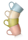 Colored mugs Royalty Free Stock Photo