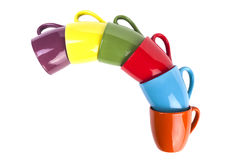 Colored Mugs Stock Photos