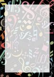 Colored music notes Royalty Free Stock Image