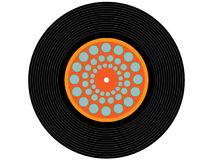 Colored music vinyl record Stock Photo