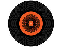 Colored music vinyl record Royalty Free Stock Photos