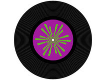 Colored music vinyl record Royalty Free Stock Image