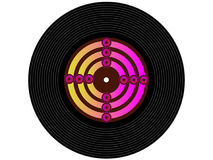 Colored music vinyl record Royalty Free Stock Photography