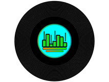Colored music vinyl record Stock Images