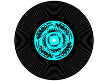 Colored music vinyl record Stock Image