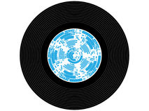 Colored music vinyl record Royalty Free Stock Images