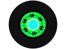 Colored music vinyl record Stock Photos