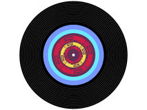 Colored music vinyl record Royalty Free Stock Photo