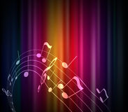 Colored musical notes background. Royalty Free Stock Photos