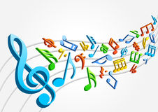 Colored musical notes Royalty Free Stock Photos