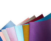 Colored nacre paper Stock Photo