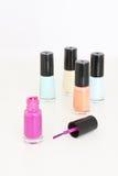 Colored nail polish Royalty Free Stock Images