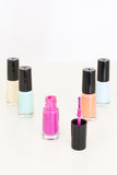 Colored nail polish Stock Images