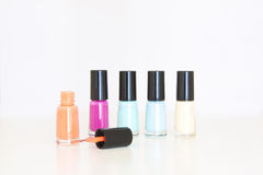 Colored nail polish Stock Photo