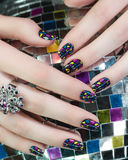 Colored nails Stock Images