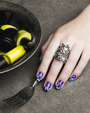 Colored nails Royalty Free Stock Photography