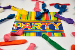 Colored napkin and ballons Royalty Free Stock Photos