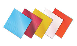 Colored napkins. On a white background Stock Images