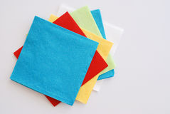 Colored napkins Stock Photo