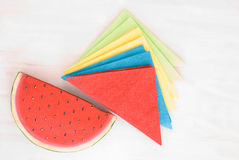 Colored napkins Stock Image