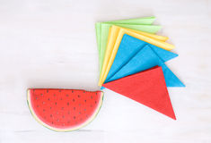 Colored napkins Stock Photography