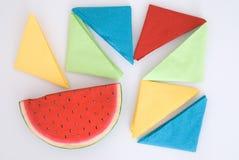 Colored napkins Stock Photo