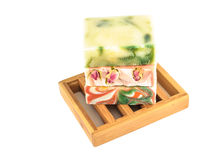 Colored natural soap bars Stock Image