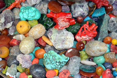 Colored natural stones and minerals Royalty Free Stock Photography