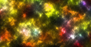 Colored nebula with stars Stock Photo