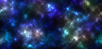 Colored nebula with stars Stock Photography