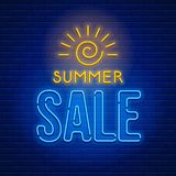 Neon sign Summer Sale Royalty Free Stock Photo