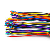 Colored network wires isolated on white background Royalty Free Stock Images