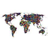 Colored network World map Stock Photos