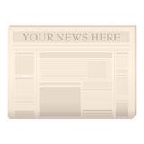 Colored newspaper template Stock Image