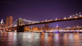 Colored night manhattan panorama from broolkyn 4k time lapse nyc. Colored night light manhattan panorama from broolkyn 4k time lapse nyc stock video