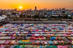Colored night Thai market Royalty Free Stock Photos