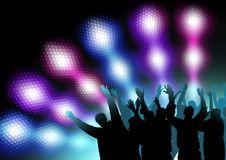 Colored Nightlife. Dance Party Background, Vector Illustration stock illustration